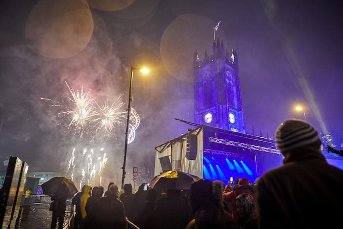 Manchester city centre Christmas lights switch on 2019