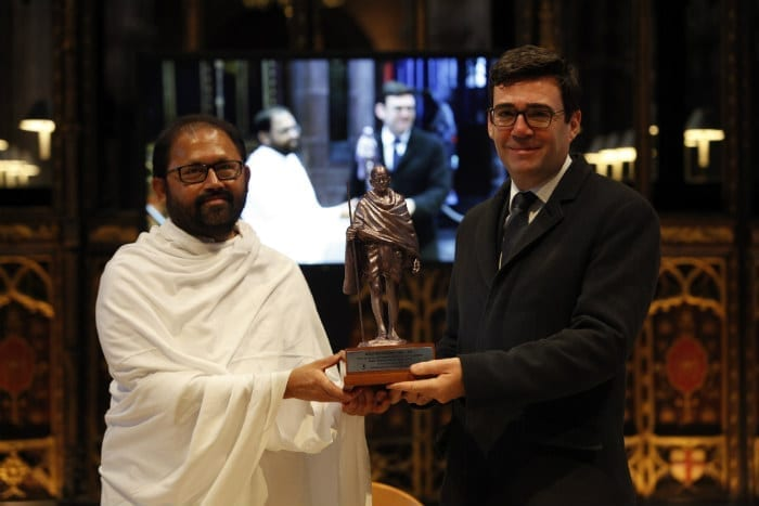 Statue of Mahatma Gandhi unveiled in Manchester I Love Manchester