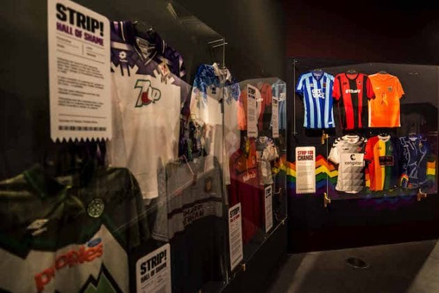 Strip! UK's biggest ever curated exhibition of football shirts opens in Manchester I Love Manchester