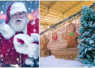 Santa snow chill factor