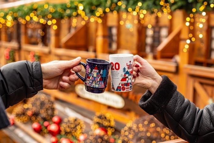 How much are sausages and gluhwein at Manchester Christmas Markets 2019? I Love Manchester