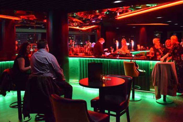 The new secret speakeasy pre-show lounge at Manchester Arena with views across the city