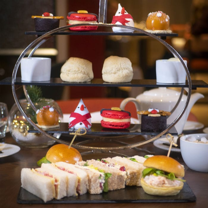 This five star hotel is offering a luxury festive afternoon tea - with an edible snowman I Love Manchester