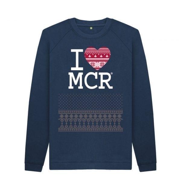Men's I Love MCR Christmas Jumper I Love Manchester