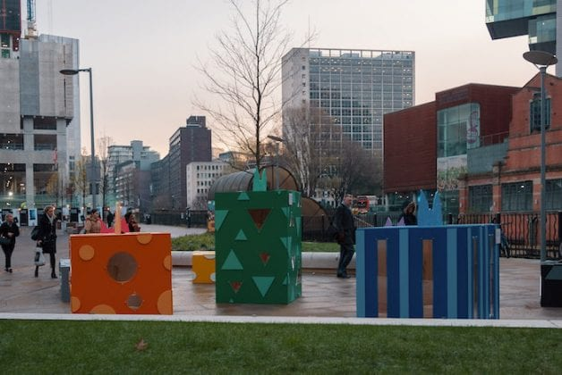 Larger-than-life Christmas presents appear in Salford - and each conceals a historical gem I Love Manchester