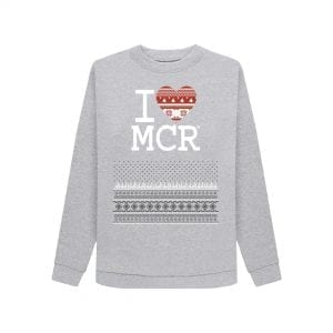 Women's I Love MCR Christmas Jumper I Love Manchester