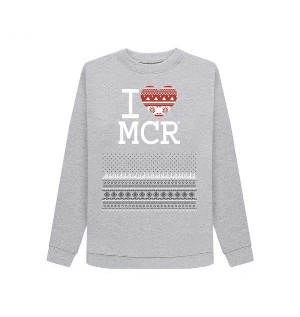 Womens I Love MCR® Christmas Jumper I Love Manchester