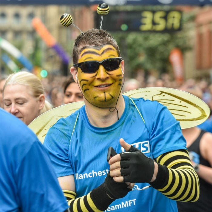 Join the Bee Wave at the Great Manchester Run and help those in need I Love Manchester