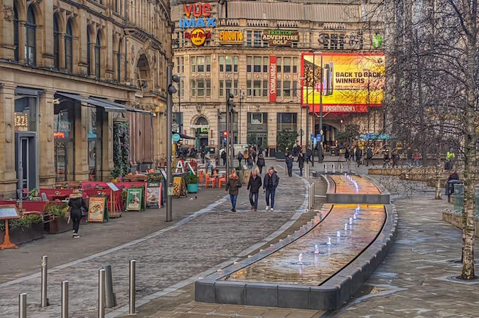 Manchester's Exchange Square has had a revamp to the tune of £823,000 I Love Manchester