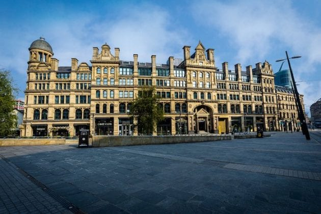 Like scenes from a movie: current photos of 'spooky' Manchester city centre during lockdown I Love Manchester