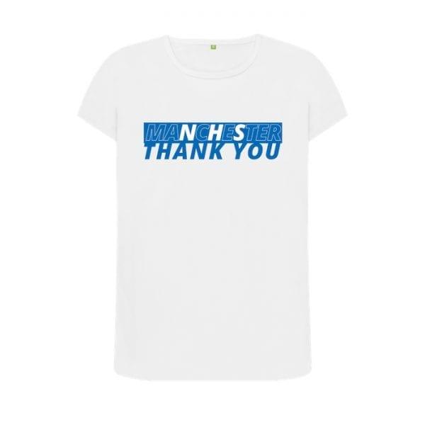 """Women's """"Thank You NHS Manchester"""" T-Shirt I Love Manchester"""