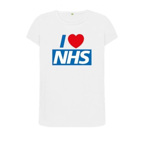 "Women's ""I Love NHS"" T-Shirt I Love Manchester"