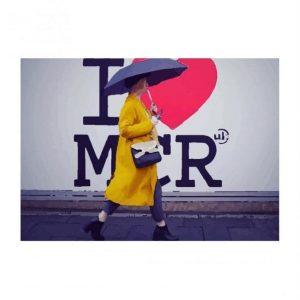 I Love MCR Rain Postcard I Love Manchester