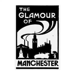 The Glamour of Manchester Large Portrait Art Print I Love Manchester
