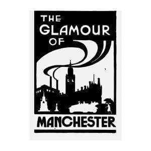 The Glamour of Manchester Postcard I Love Manchester