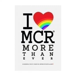 """I Love MCR More Than Ever"" Large Art Print I Love Manchester"