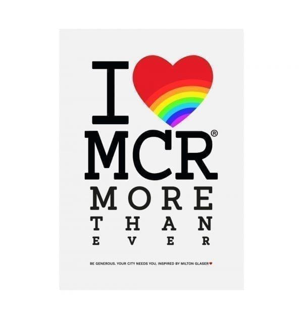 """I Love MCR More Than Ever"" Large Art Print I Love Manchester"