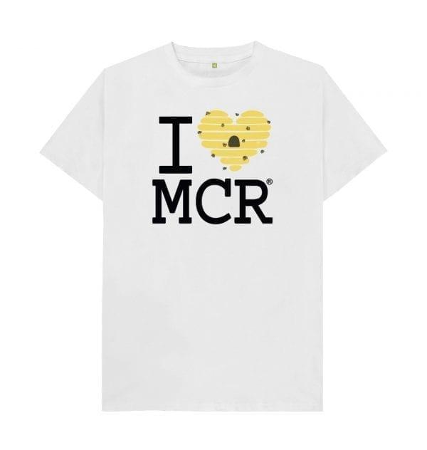 I Love MCR Bee Hive T-Shirt I Love Manchester