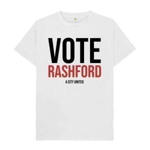 """Vote Rashford"" T-Shirt I Love Manchester"