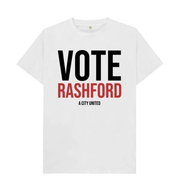 """""""Vote Rashford"""" T-Shirt I Love Manchester"""