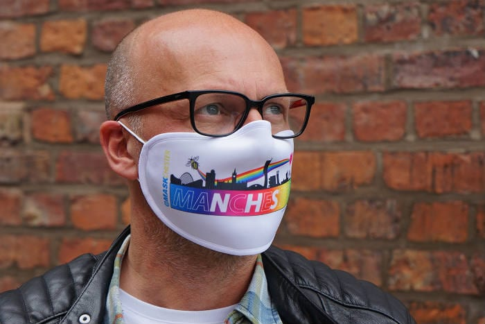Mancunians launch face masks inspired by the city with proceeds going to charity I Love Manchester