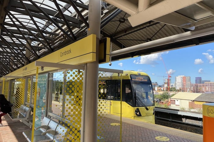 What's it like on the new tram to the Trafford Centre? I Love Manchester