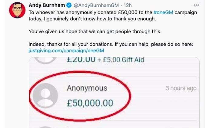Andy Burnham tweet